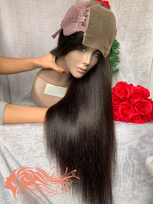Csqueen Mink hair Straight Closure wig 100% Human Hair 180%density Best Hair